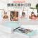 中国印刷CP 400 Lカラー写真プリンタ無線Bluetooth家庭用携帯ミニ写真現像熱昇華プリンタ+フォト紙セットミントグリーン